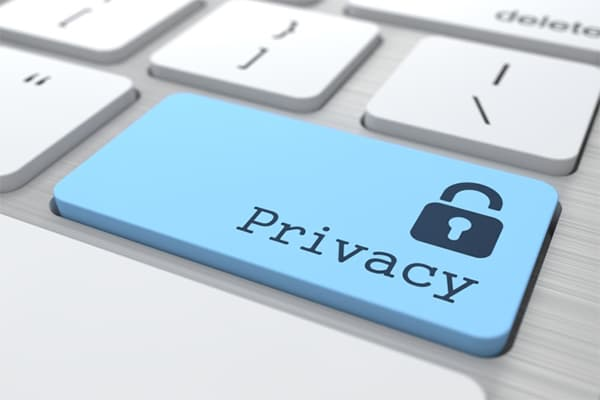 Privacy keyboard button