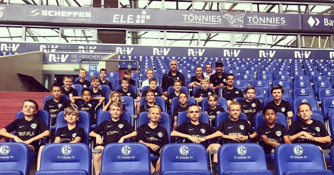 Teamfoto kinderen voetbalteam